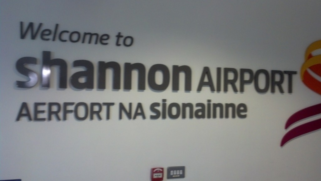 Arriving at Shannon