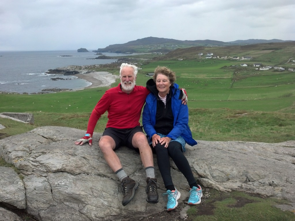 Resting at the top, Malin Head