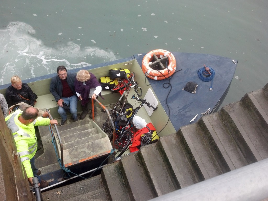 From ferry to dinghy to Doolin -