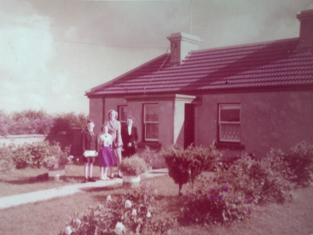 Cousin Eamon, Me, my mother, and Aunt Mary, August 1956