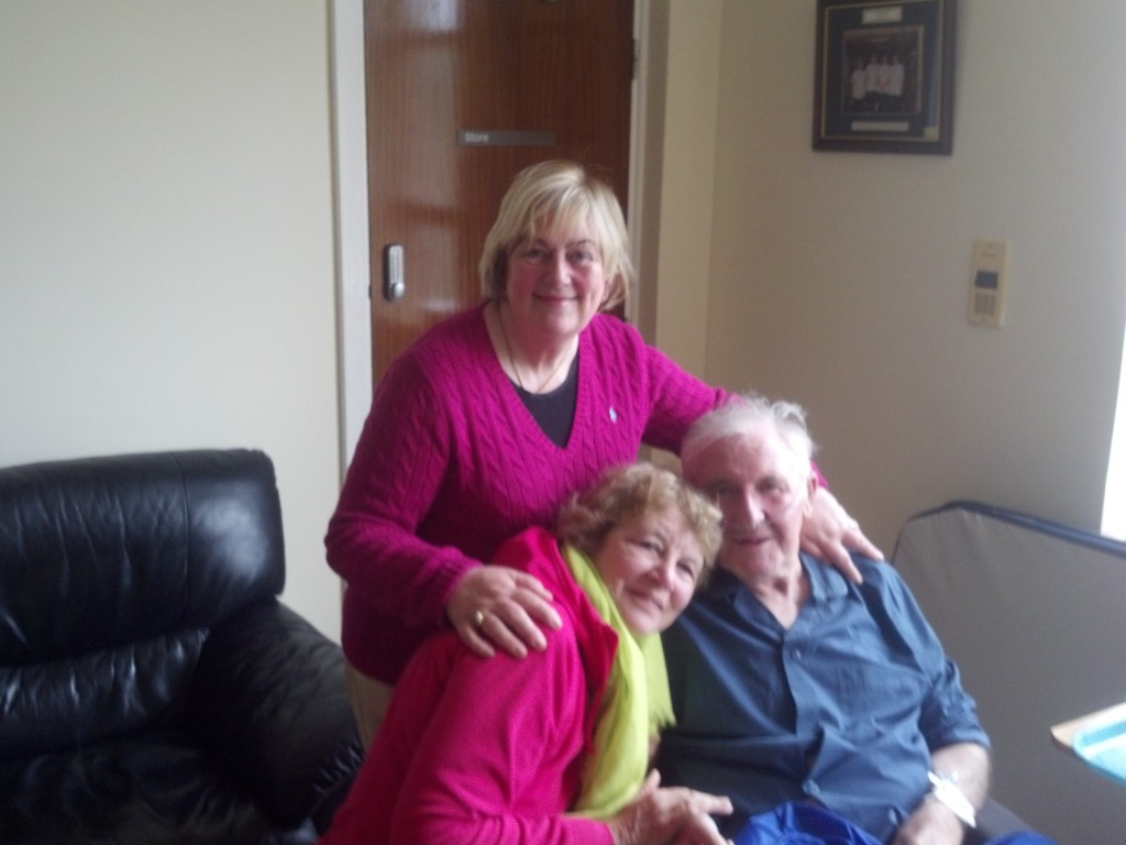 Cousin Eamon, his wife, Pauline and me at Sligo Hospital
