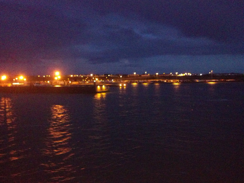 Leaving Rosslaire, Ireland  on the ferry to Cherbourg