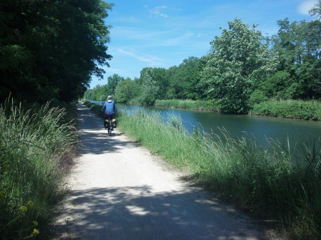 Cycling along the Canal du Rhone