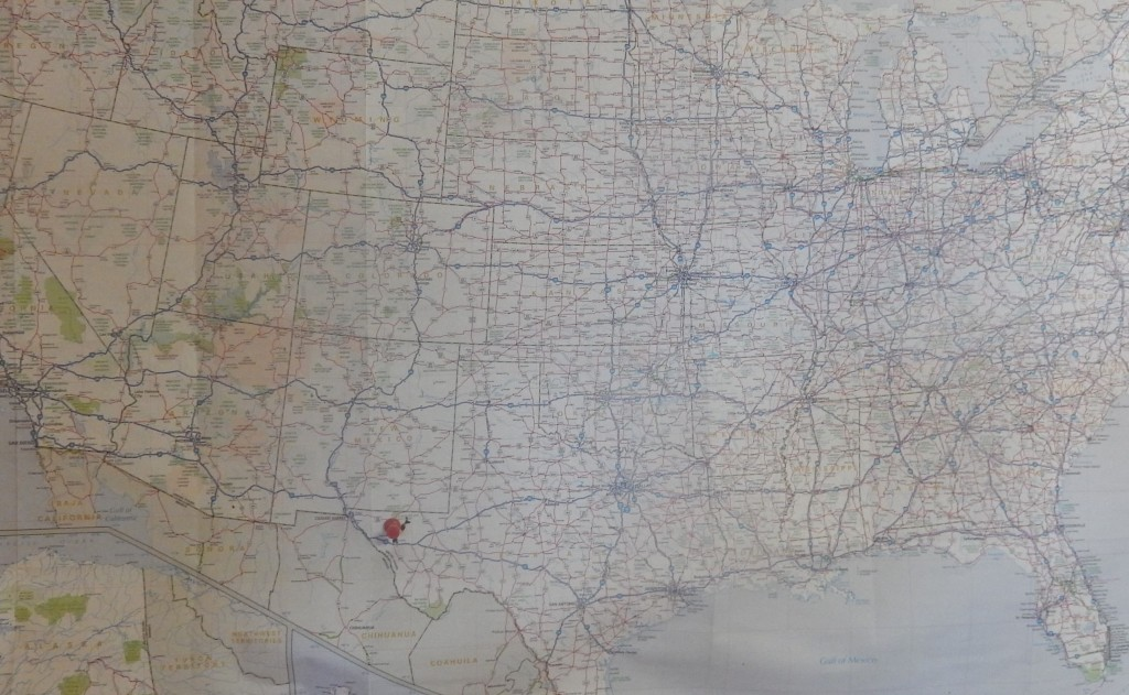 1/3 of the way -San Diego to Van Horn, Texas