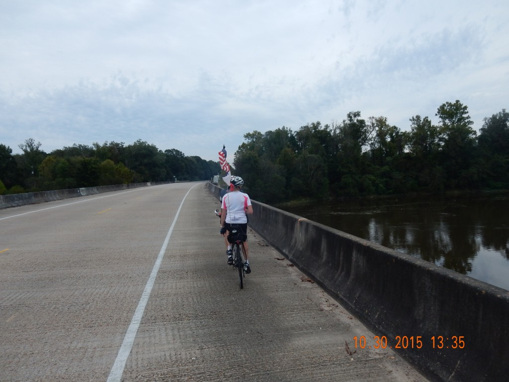 Crossing the Sabine River into Louisiana