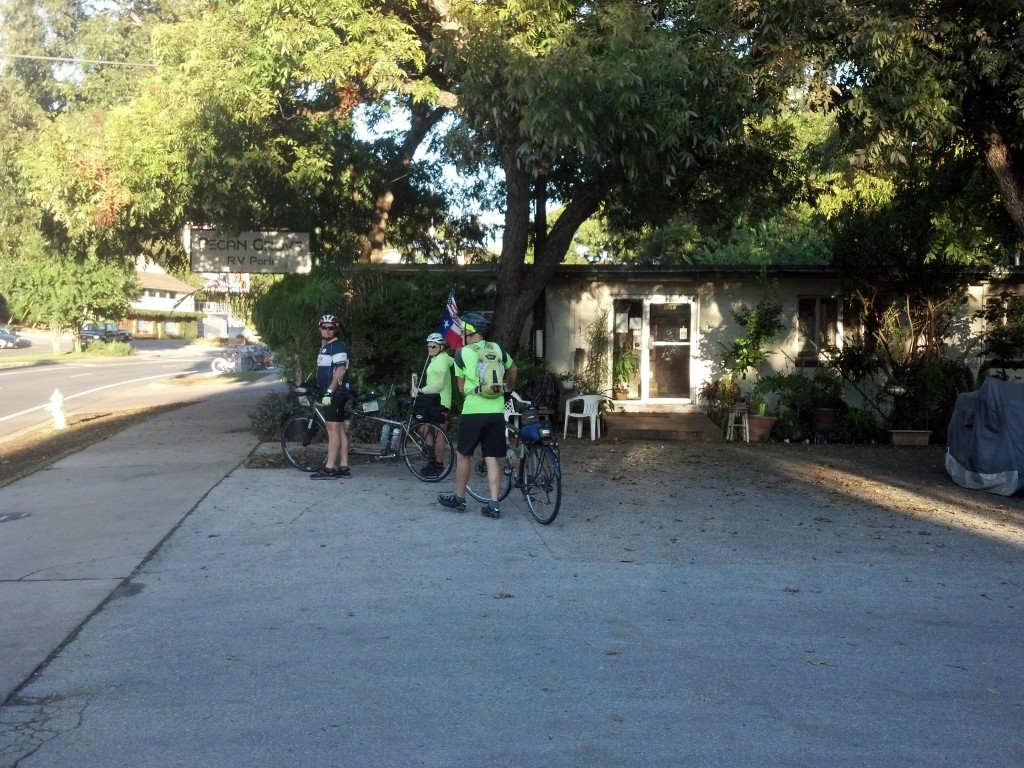 Leaving Pecan Grove RV Park, Austin