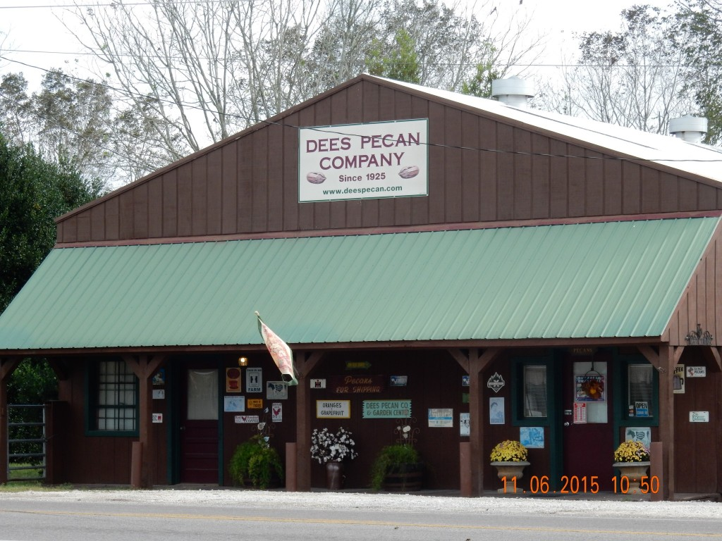 Pecan store where Karen and Kim bought pecans! (but not pecan coffee) Dees, AL