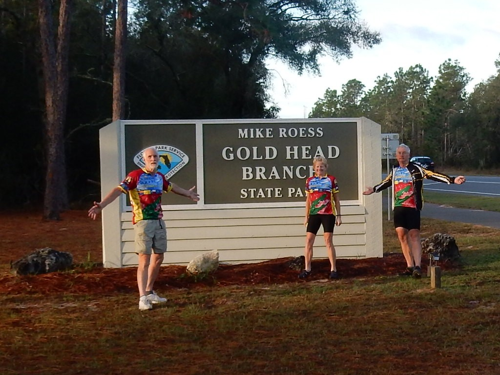 Team GGJV leaves on their last day of cycling from State Park headed towards to St. Augustine