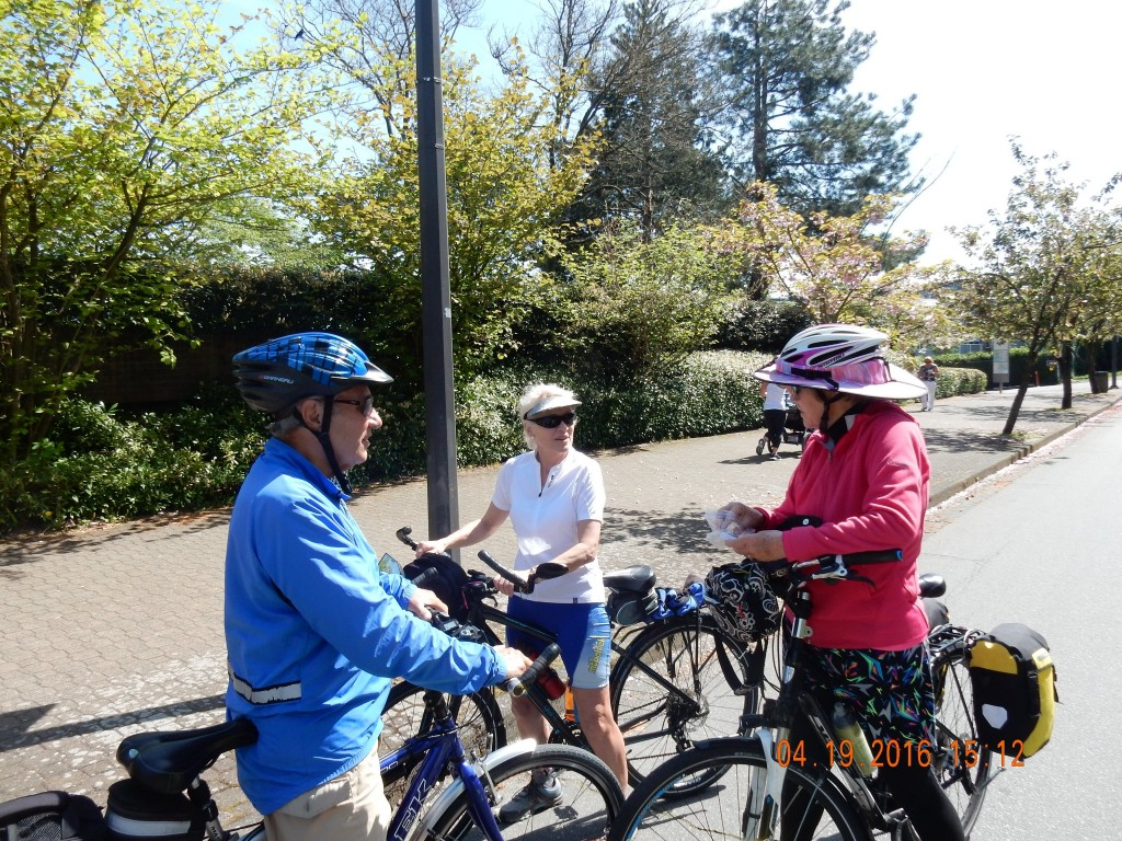 Trail Angels, John and Sheila, guided us to the beginning of the Adventure Cycling Route - Vanier Park