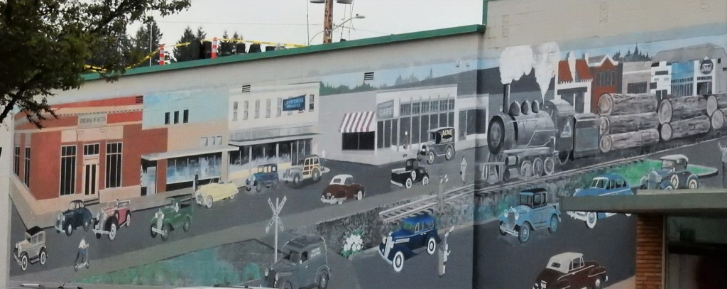Mural in downtown Shelton, Washington