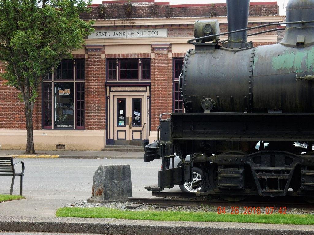 Train outside the post office