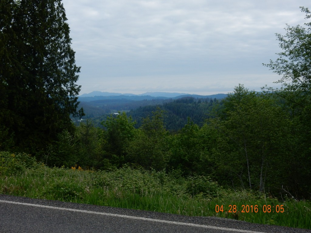 """Overlooking the valley after climbing first """"hill"""" out of Centralia"""