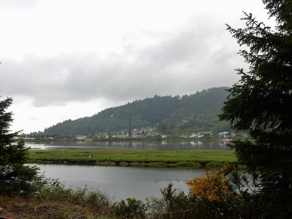 Garibaldi viewed from the other side of Tillamook Bay