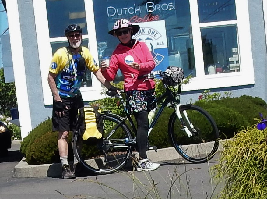 After lunch coffee drinking one for Dane - Dutch Bros. coffee raising money for ALS/MDA today