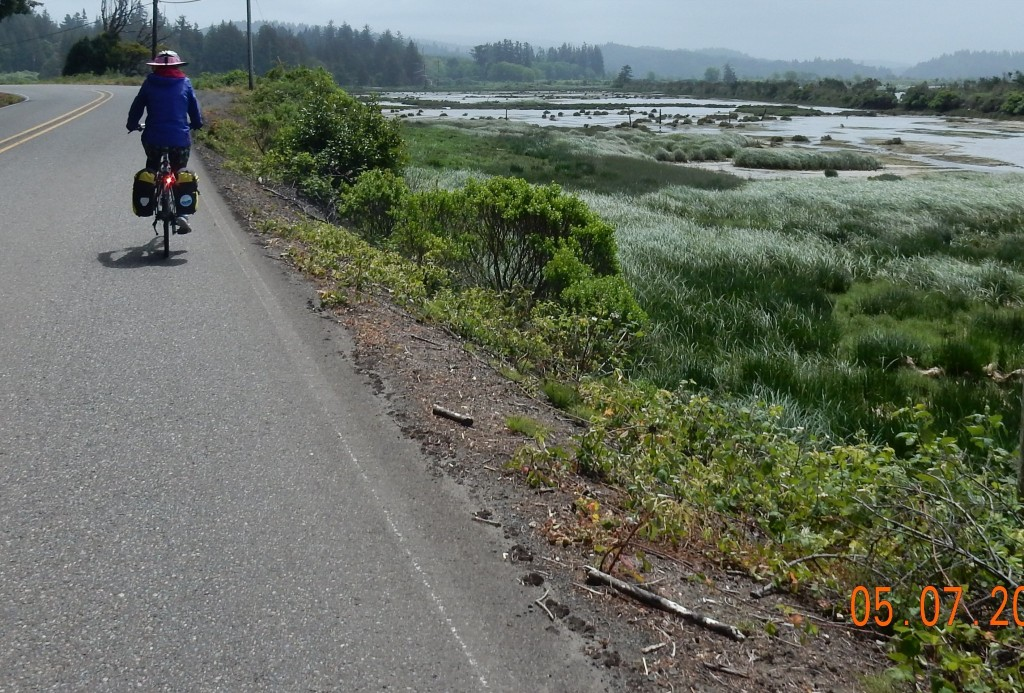 Along the alternate route, east side of Coos Bay