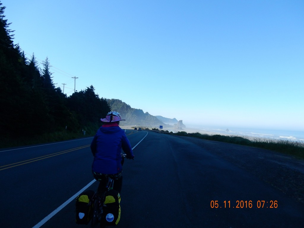Early morning fog, leaving Gold Beach