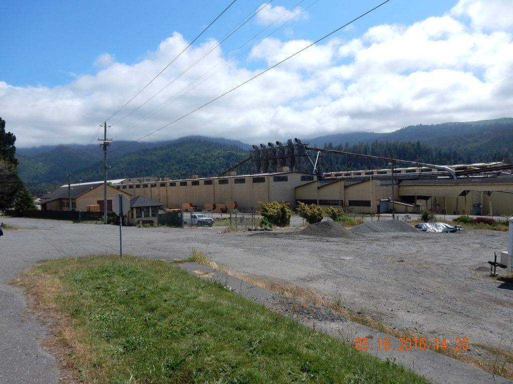 Partially defunct lumber mill
