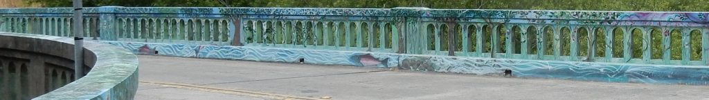 Detail of mural on the Platform Bridge