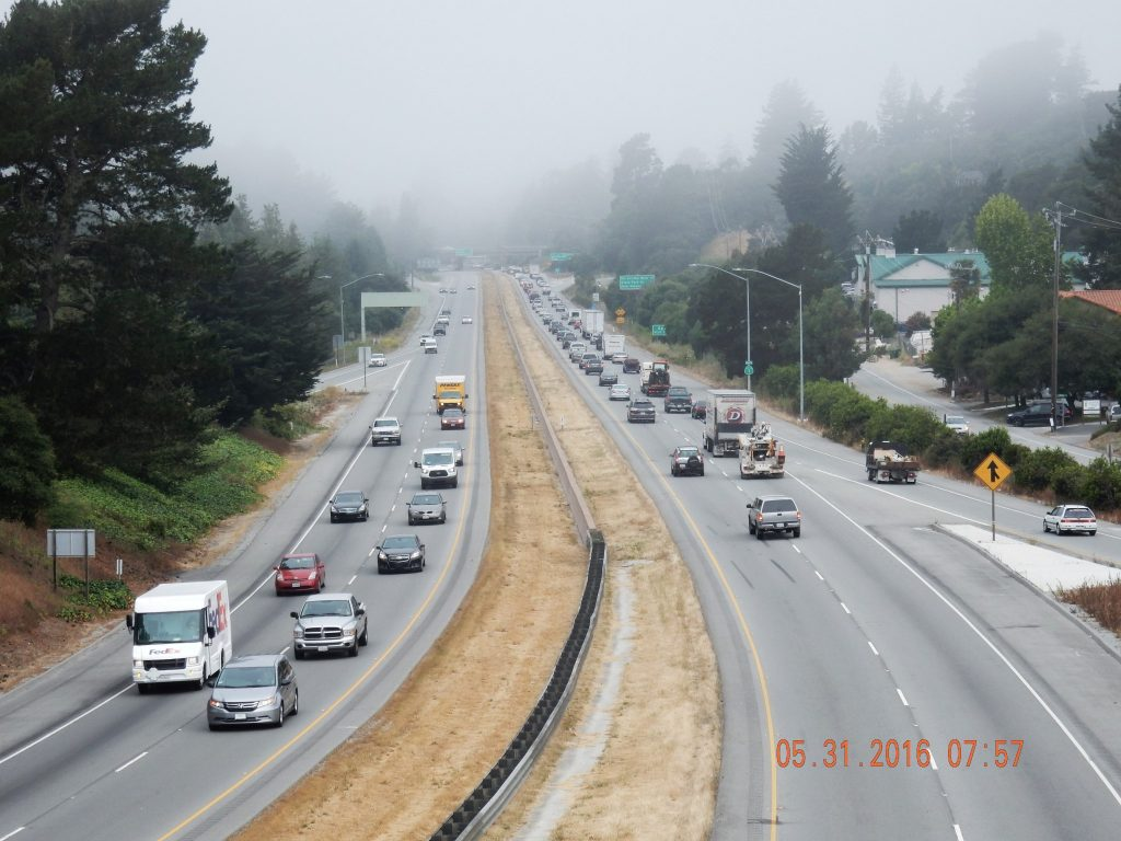 Route 1 leaving Aptos (Santa Cruz)
