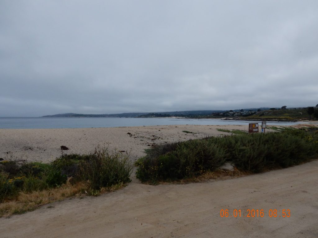 Beach looking back towards Carmel