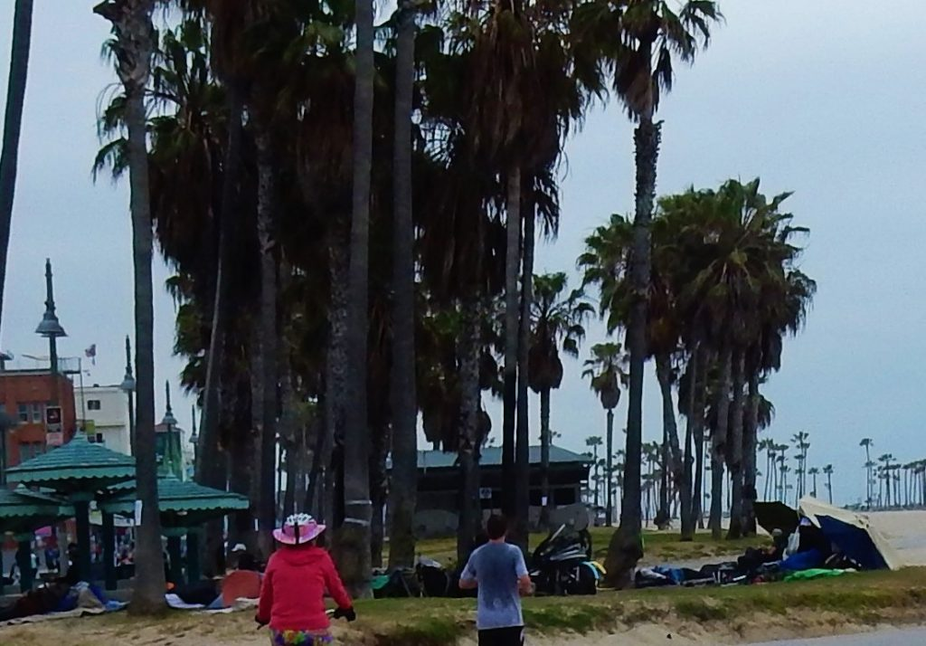 Homeless at Venice Beach