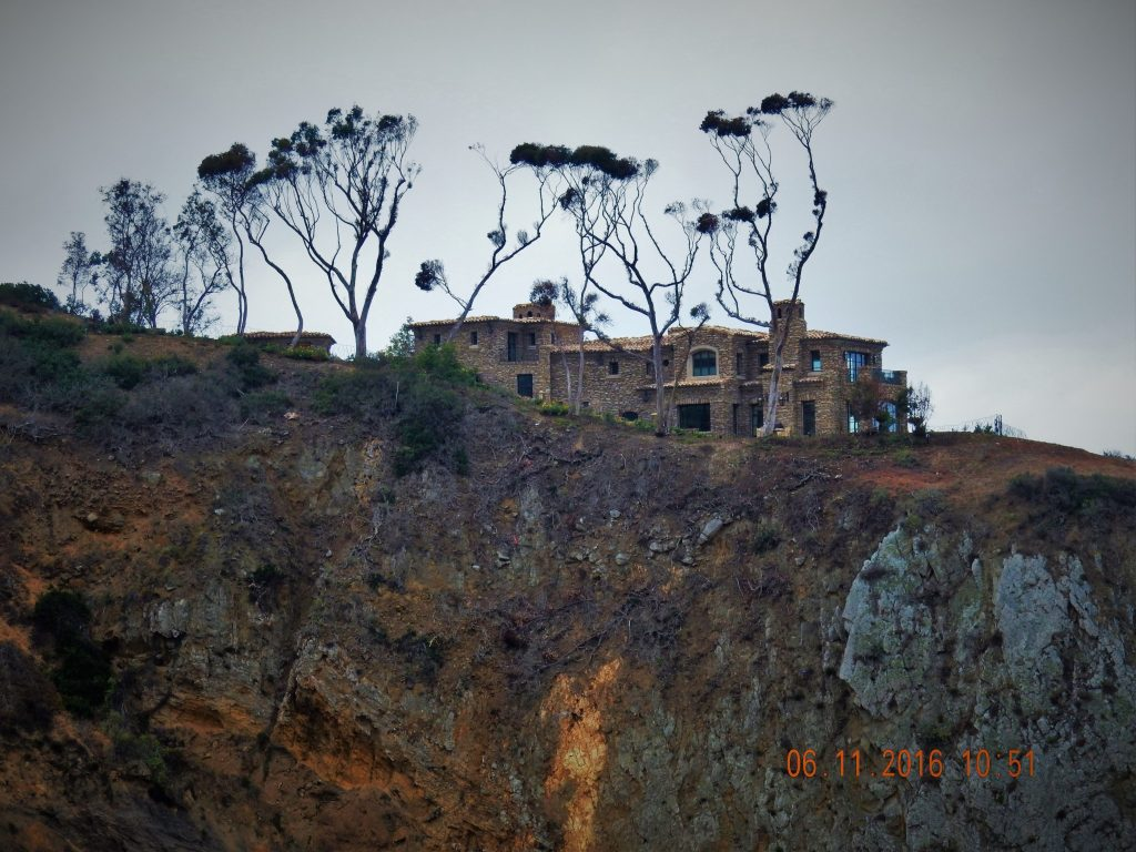 Interesting house on the cliff - near Laguna Beach