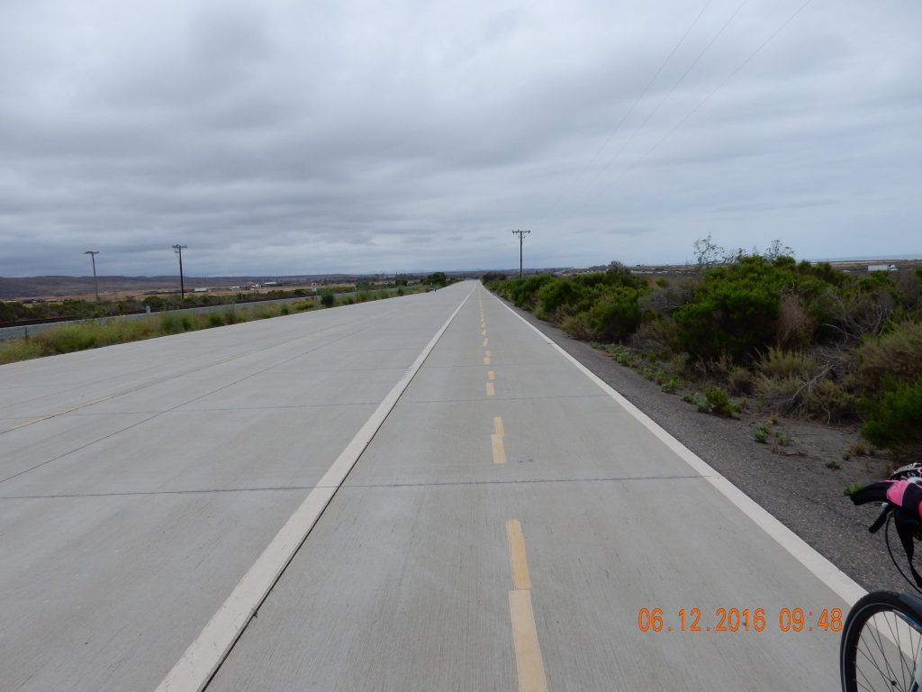 Cycling towards Camp Pendleton - looks like an airstrip