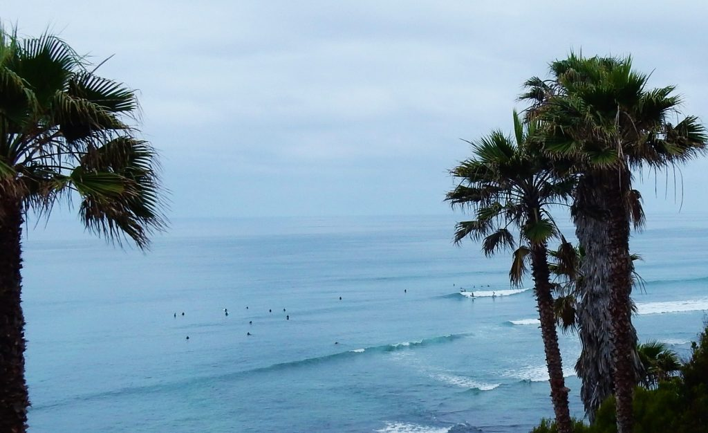 Surfers at Swami Beach