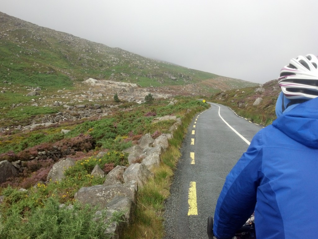 Climbing Wicklow Gap