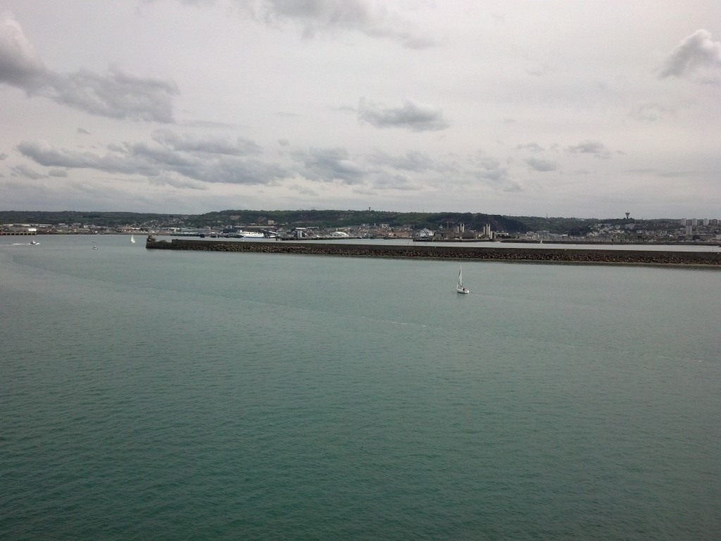 Arriving in the harbor at Le Cherbourg