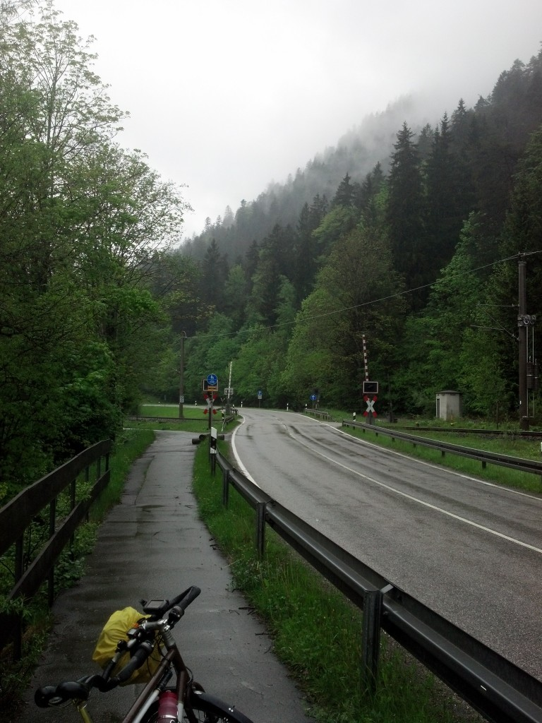 Bike trail leaving Garmisch