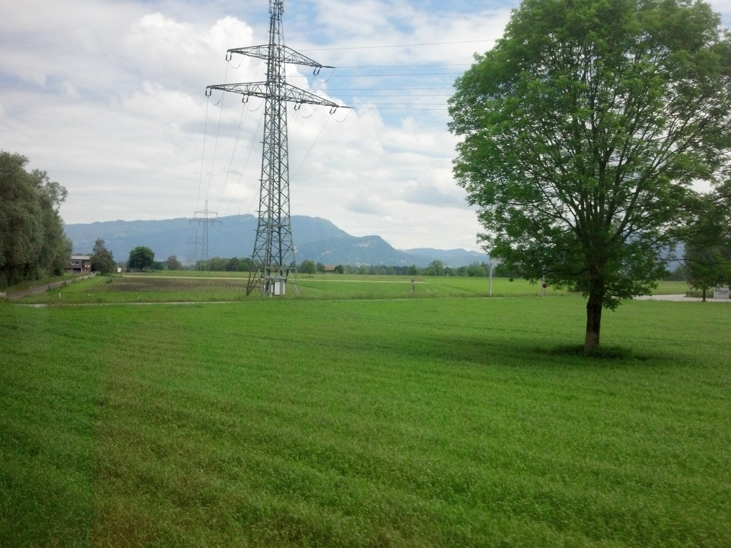 Austrian countryside outside Bregenz (from the train window)
