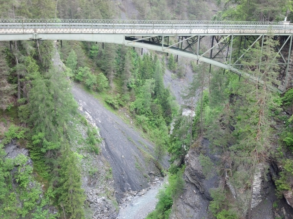Bridge over Rabiusa Gorge, part of the Ruinaulta Canyon
