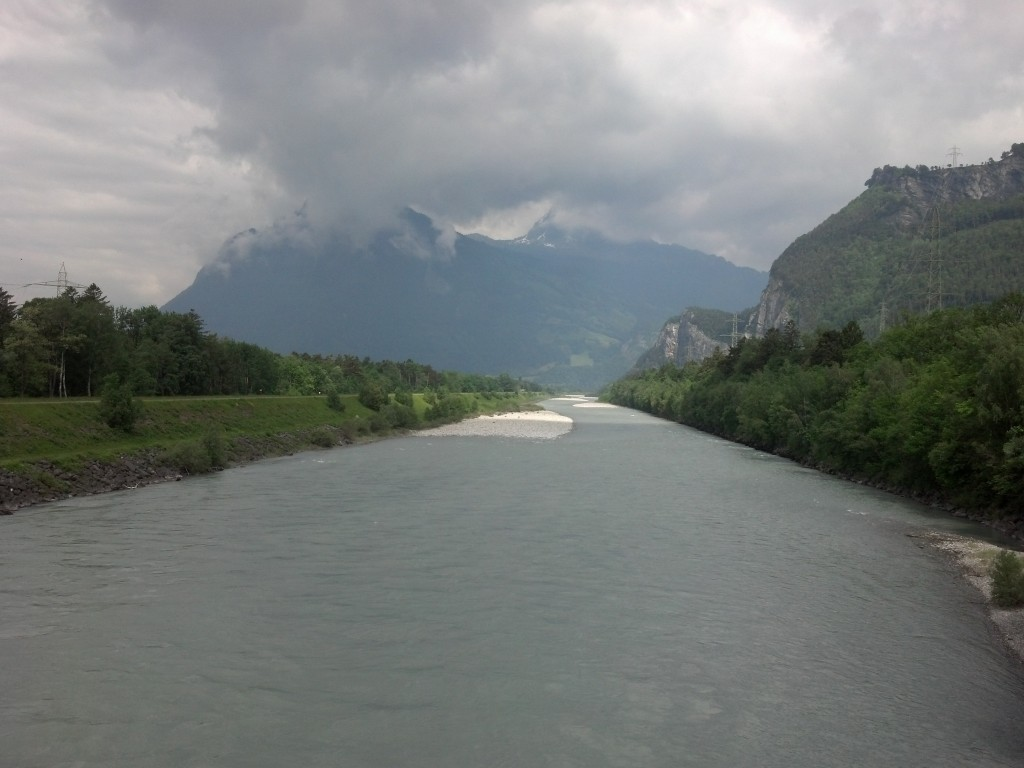 The Rhine River near Bad Ragaz