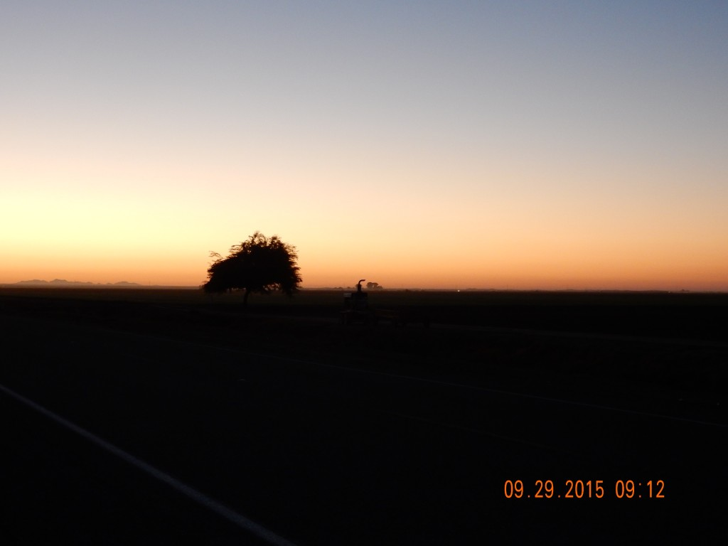 Sunrise near Brawley, CA