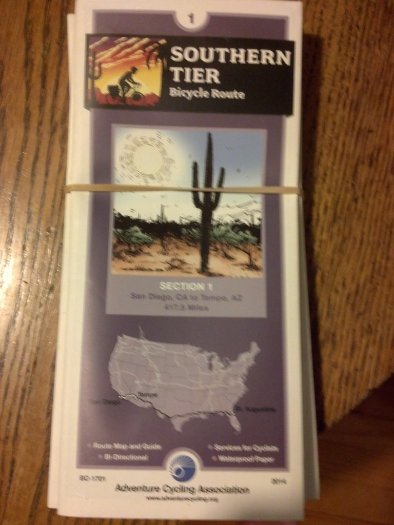 Maps to guide us on the Southern TIer cross country cycle trip