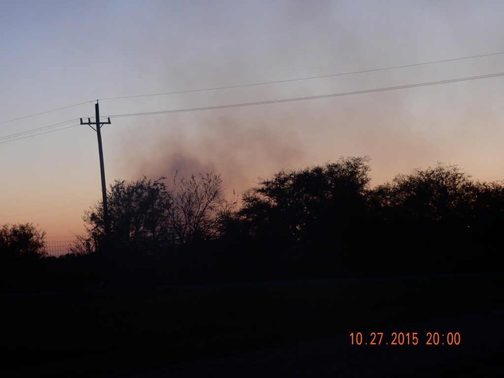 Fires outside - Navasota (with burn ban in effect)
