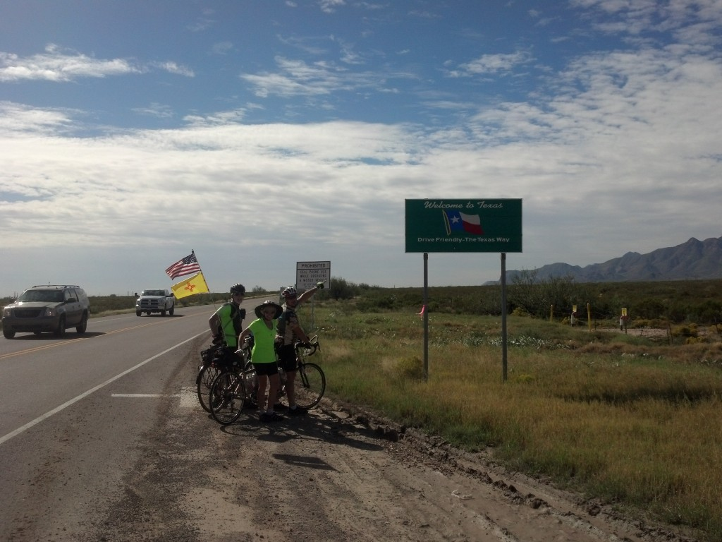 Crossing the Texas line with roadrunners