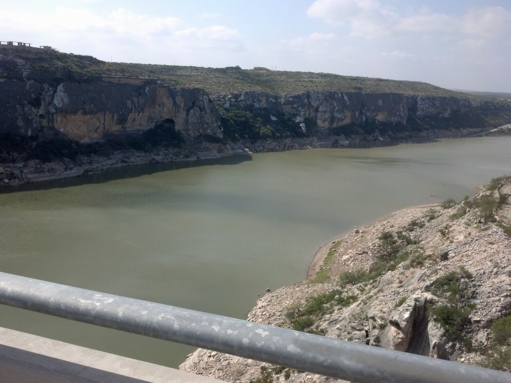Crossing the Pecos in the RV, team will cross today on their bikes!