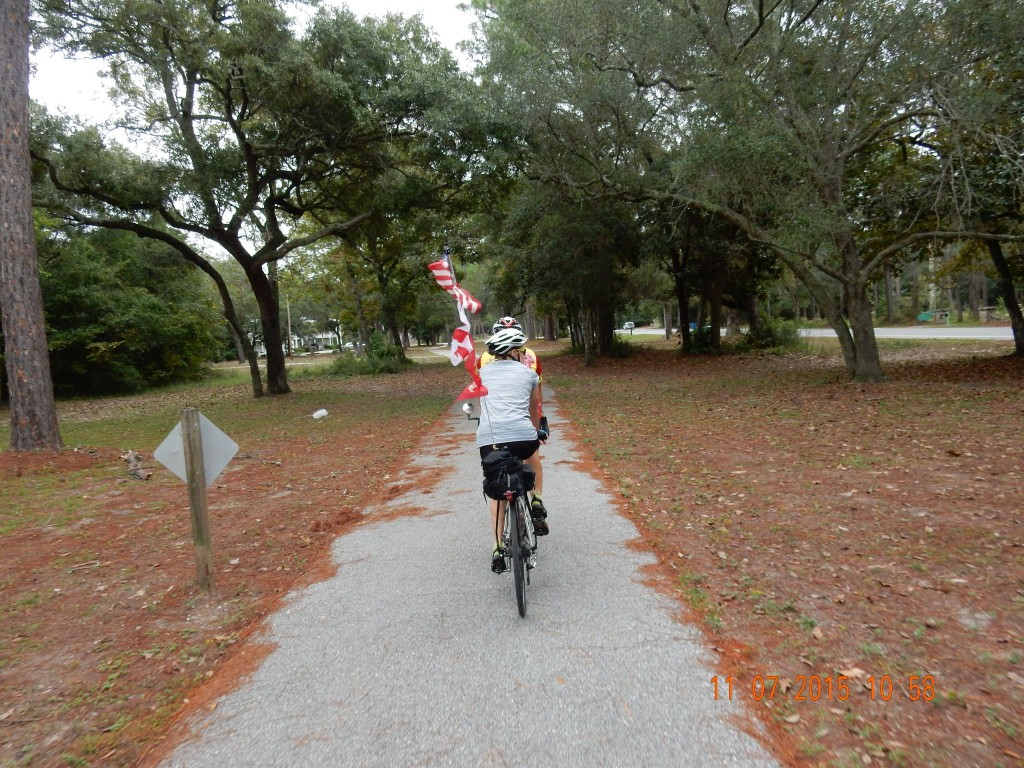 Bike Trail on the Gulf Shores of Alabama