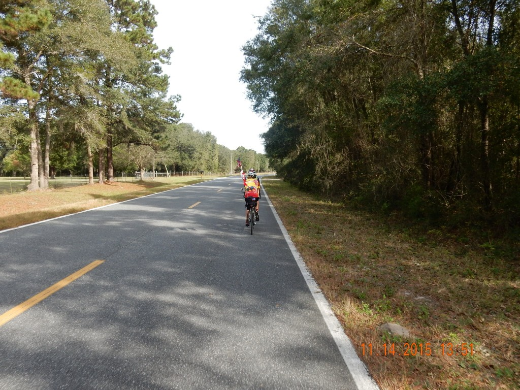 Cycling towards Gainesville