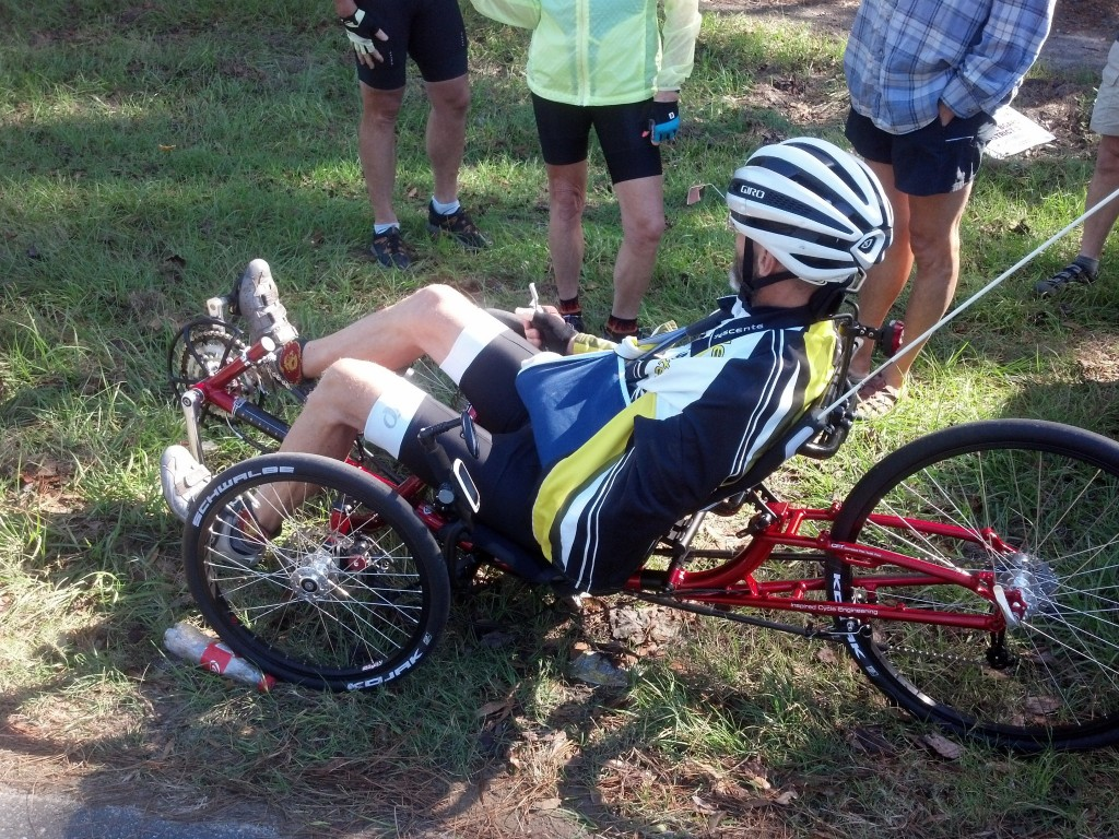 Ray and his trike - first day out since accident and cycled 68 miles