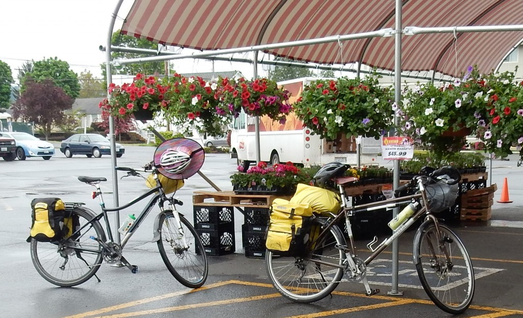Stopping at the local market in Castle Rock for snacks