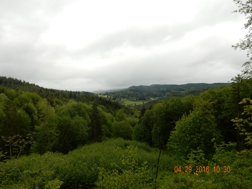 View from the top of the first hill outside Castle Rock, WA