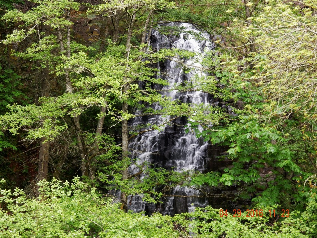 Waterfall along the highway