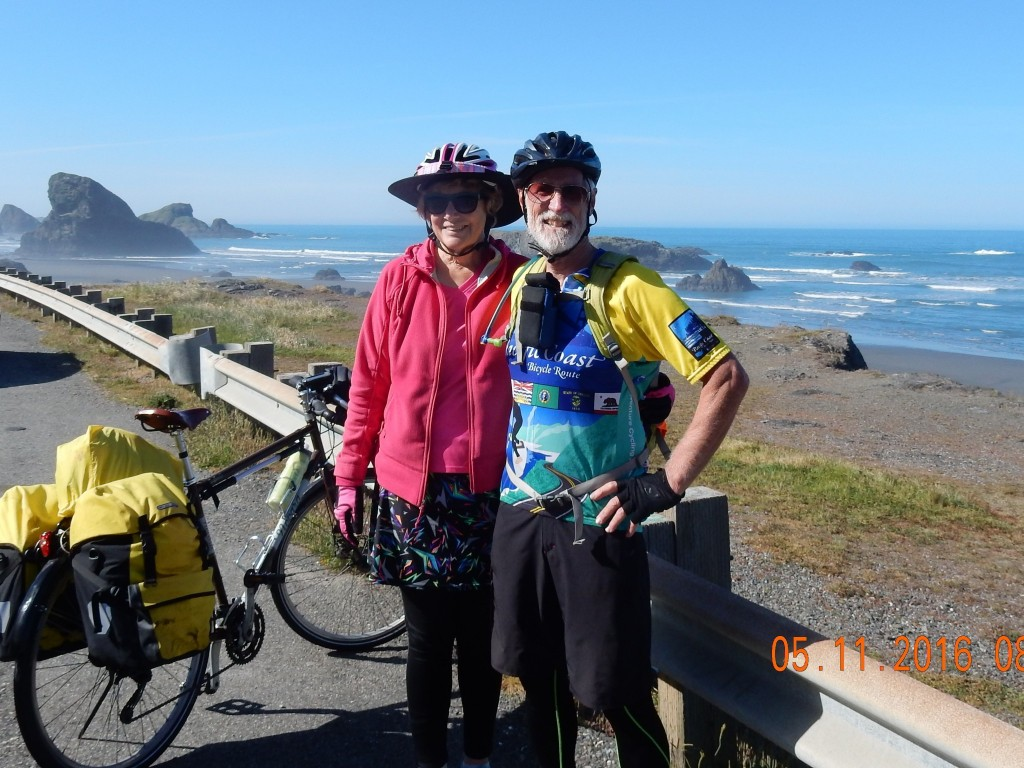 A California couple stopped to ask about how far we were going, where we started. Wanderlust