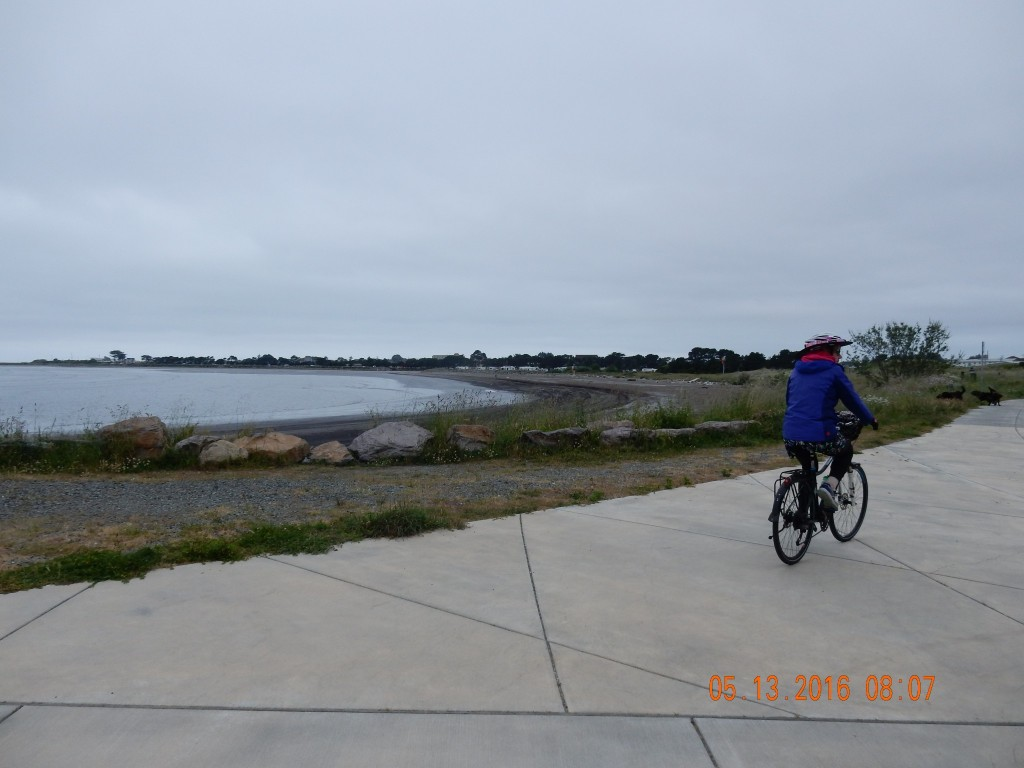 Cyling along the Pacific Coast Trail