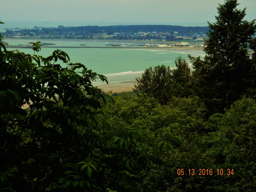 Looking out over Crescent City, from 400 ft above -first rest stop