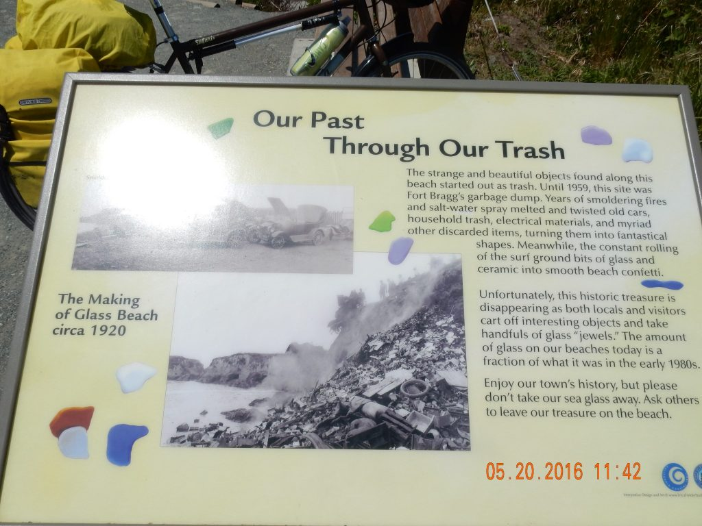 Plaque explaining old dump site