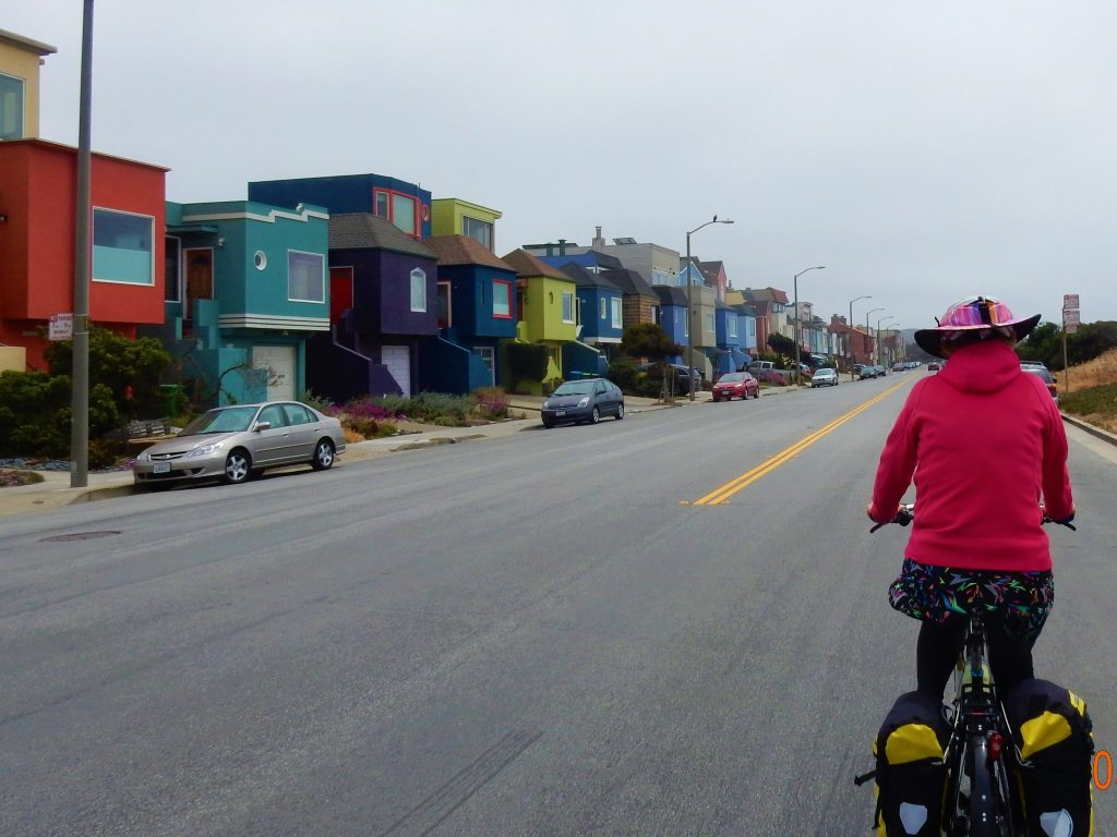 Uniquely painted homes - Great Highway